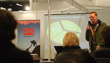 Targi Kielce Zima-Sport 2010 - Wojciech Kłapcia prowadzi szkolenie membranowe