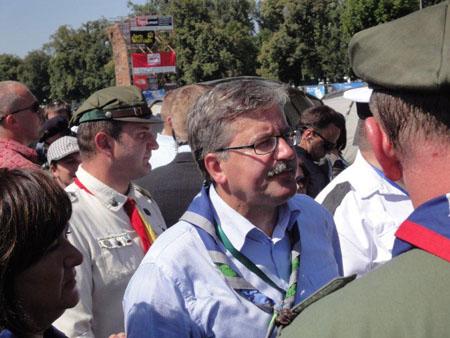 Prezydent Bronisław Komorowski wizytujący Zlot ZHP