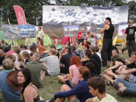 Codziennie od godziny 19 w Himalayan Camp zbierało się kilkadziesiąt osób by wysłuchać naszych gości.