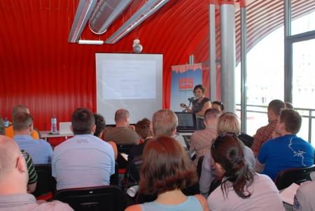 Spotkanie prowadzi Katarzyna Czyrnek z firmy Positive Power (fot. 4outdoor.pl)